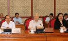 Bộ Chính trị làm việc với Ban Thường vụ 10 tỉnh ủy