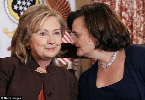 Quan hệ ,thân tình, bí mật , Hillary , Cherie Blair