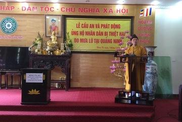 Giáo hội Phật giáo tỉnh ủng hộ 1,2 tỷ đồng cho đồng bào lũ lụt