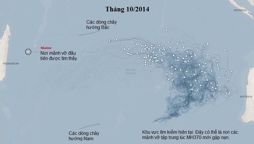 MH370, máy bay, mất tích, hành trình tìm kiếm, mảnh vỡ, trôi dạt, hướng đi