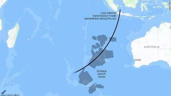 Bản đồ số phận bí ẩn của MH370