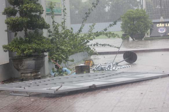 bão số 5, quét vào đất liền