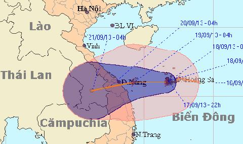 bão số 8; miền trung
