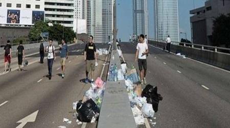 Hong Kong, biểu tình, dân chủ, sinh viên, Khu Trung Hoàn, sạch sẽ