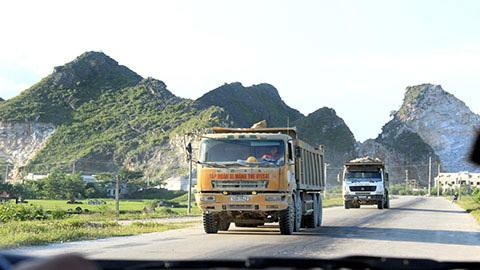 Gia Viễn, Ninh Bình; xe quá tải