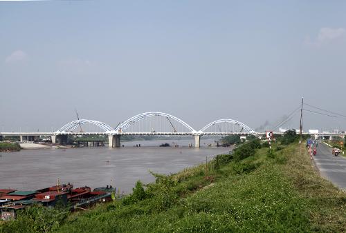 Cầu Đông Trù, Long Biên, động đất, cấp 8, Hà Nội, thông xe