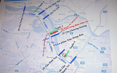 đường sắt, đô thị, số 1, Hà Nội, bảo tồn, Cầu Long Biên, phương án