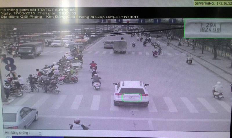 Hà Nội, xử phạt 'nóng', vi phạm, camera, giao thông